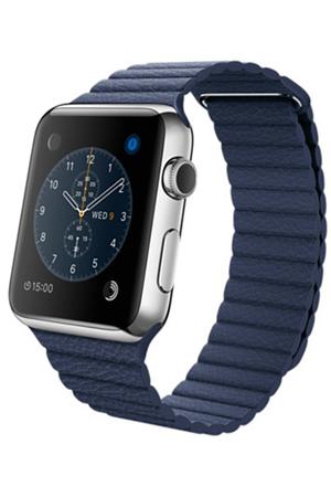 apple watch apple watch 42mm cadran acier bracelet cuir taille m darty. Black Bedroom Furniture Sets. Home Design Ideas