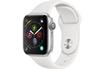Apple Watch Série 4 GPS 40mm Boîtier en aluminium argent avec Bracelet Sport blanc photo 1