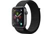 Apple Watch Série 4 GPS + Cellular 44mm Boîtier en aluminium gris sidéral avec Boucle Sport noir photo 1