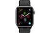 Apple Watch Série 4 GPS + Cellular 44mm Boîtier en aluminium gris sidéral avec Boucle Sport noir photo 2