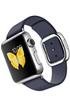 Apple watch WATCH 38MM ACIER BRACELET CUIR TAILLE L BLEU MODERNE Apple
