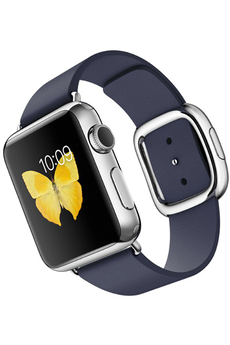 Apple watch WATCH 38MM ACIER BRACELET CUIR TAILLE M BLEU MODERNE Apple