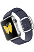 Apple watch WATCH 38MM ACIER BRACELET CUIR TAILLE S BLEU MODERNE Apple