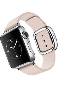 Apple watch WATCH 38 MM ACIER BRACELET CUIR TAILLE S ROSE Apple