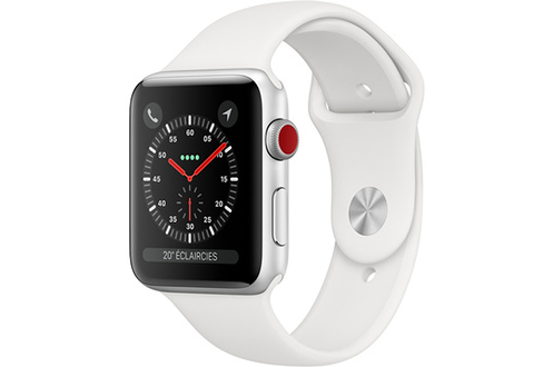 Apple Watch Series 3 GPS+Cellular 38mm inoxydable Bracelet Milanais