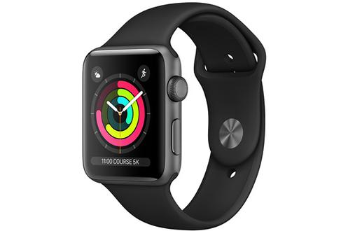 Apple SERIE 3 GPS 42MM BOITIER ALUMINIUM GRIS SIDERAL BRACELET SPORT NOIR