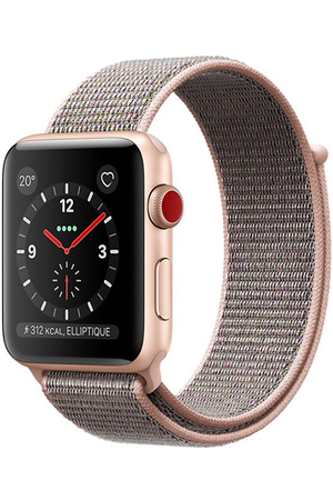 Apple watch Apple Watch Series 3 GPS et Cellular 38mm , Boîtier en  aluminium or avec