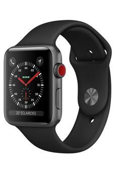 Watch Series 3 GPS et Cellular 42mm - Boîtier en aluminium Gris Sidéral ave
