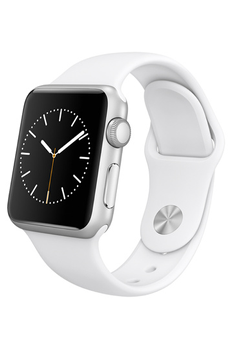 Apple watch WATCH SPORT 38MM SILVER ALUMINIUM BRACELET SPORT BLANC Apple