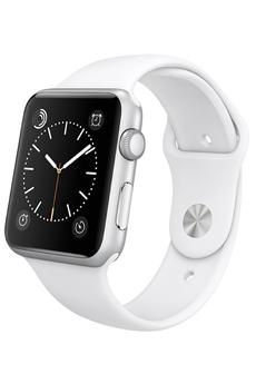 Apple watch WATCH SPORT 42MM SILVER ALUMINIUM BRACELET SPORT BLANC Apple
