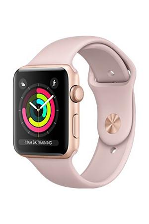 Apple watch Watch Series 3 GPS 42mm - Boîtier en aluminium Or avec Bracelet Sport Rose