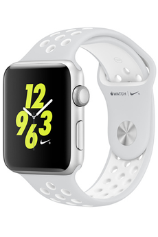 Apple watch WATCH NIKE+ 42MM ALUMINIUM ARGENT BRACELET SPORT NIKE PLATINE/BLANC Apple