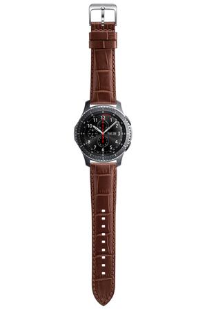 Accessoires Montres / Bracelets connectés Samsung BRACELET CROCO MARRON  POUR SAMSUNG GEAR S3