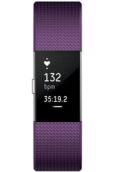 Bracelets connectés CHARGE 2 PRUNE ARGENT LARGE Fitbit