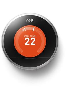 Thermostat connecté Nest Thermostat connecté Learning AcierT3028FD