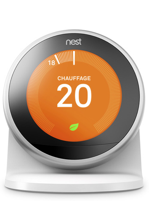 Thermostat connect nest socle learning thermostat 3e generation socle thermo 3e gen darty - Thermostat connecte nest ...