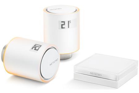 thermostat connect netatmo kit 2 vannes connectees pour. Black Bedroom Furniture Sets. Home Design Ideas