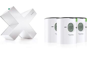Thermostat connecté PACK WISER CHAUFFAGE A BOUCLE D'EAU EER10201 Schneider