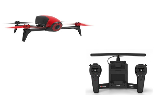 Drone BEBOP 2 ROUGE + SKYCONTROLLER Parrot