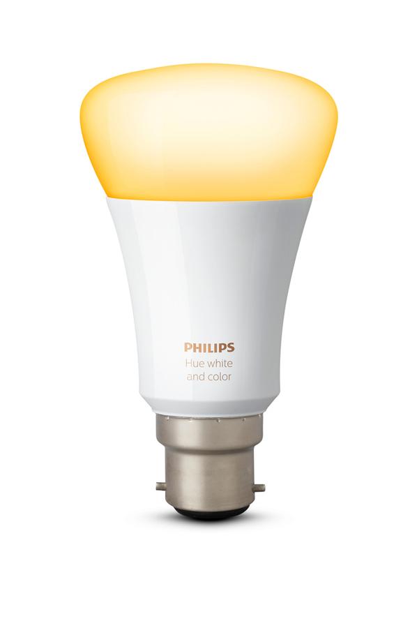 ampoules connect es philips hue b22 rich color 4275195. Black Bedroom Furniture Sets. Home Design Ideas
