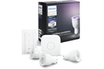 Philips HUE WHITE & COLOR GU10 KIT DE DEMARRAGE - 3 AMPOULES HUE WHITE AND COLOR GU10 + PONT DE CONNEXION HUE + TELECOMMANDE VARIATEUR HUE photo 1