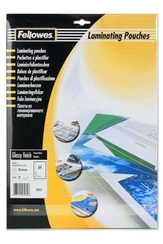 Accessoire bureautique 25 FEUILLES DE PLASTIFICATION A4 Fellowes