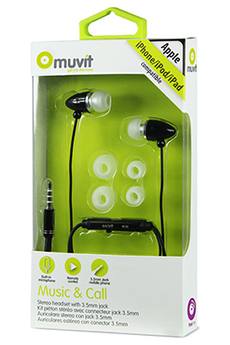 Kit piéton pour téléphone mobile Intra noir Muvit