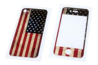 Autres accessoires pour iPhone STICKER USAFLAG IPHONE4 Muvit