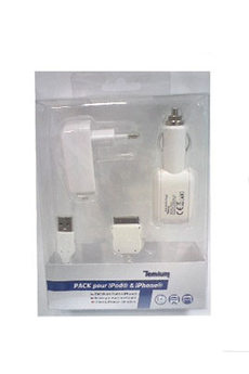 Chargeur pour iPhone PACK IPOD/IPHONE Temium