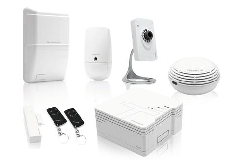 alarme maison thomson pack securite 4033248 darty. Black Bedroom Furniture Sets. Home Design Ideas