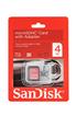 Sandisk CARTM MICROSDHC 4GB photo 1