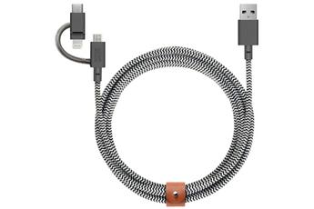 Câble iPhone Native Union Câble 3 en 1 : USB vers Lightning...