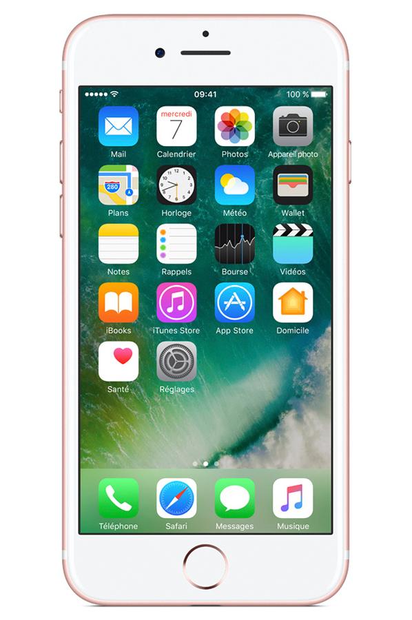 iphone apple iphone 7 128 go or rose 4258061 darty. Black Bedroom Furniture Sets. Home Design Ideas