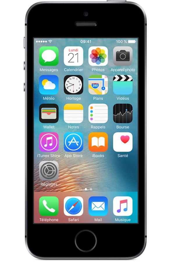 iphone apple iphone se 64 go gris sideral iphone se 4043260 darty. Black Bedroom Furniture Sets. Home Design Ideas