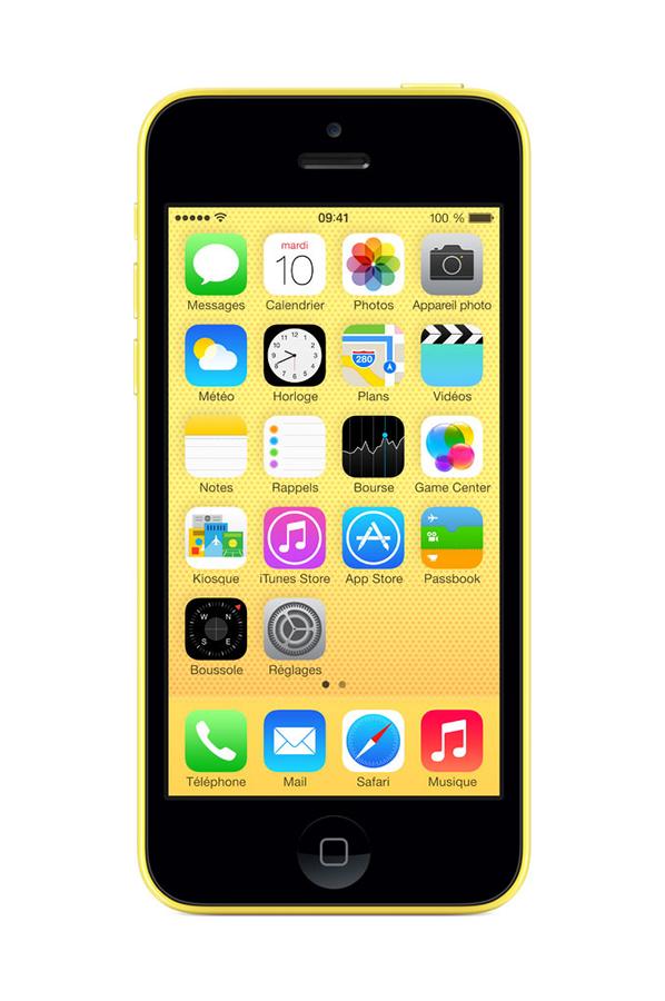 iphone apple iphone 5c 8go jaune. Black Bedroom Furniture Sets. Home Design Ideas