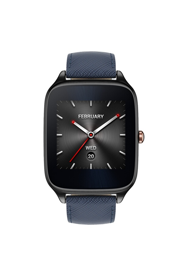 montre connect e asus zenwatch 2 en cuir bleu fonce 4194683 darty. Black Bedroom Furniture Sets. Home Design Ideas