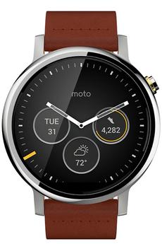 Montre connectée MOTO 360 V2 HOMME 46MM CUIR COGNAC Motorola