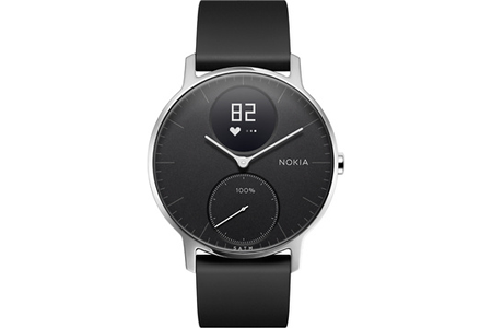 montre connect e withings steel hr 36mm noire darty. Black Bedroom Furniture Sets. Home Design Ideas