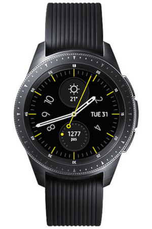 montre connect e samsung galaxy watch noir carbone 42mm darty. Black Bedroom Furniture Sets. Home Design Ideas