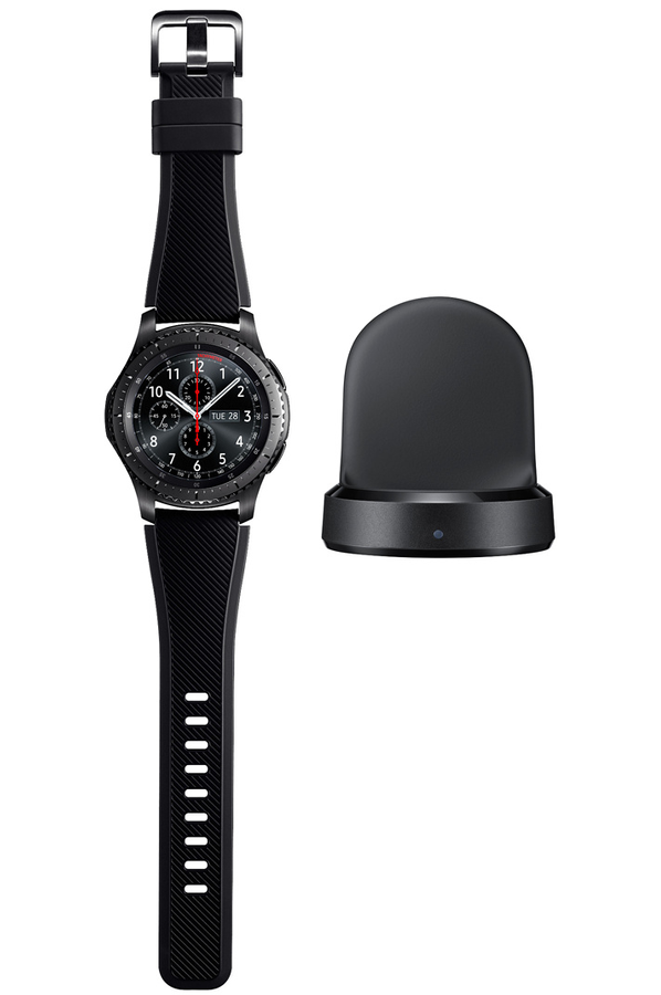 montre connect e samsung gear s3 frontier noir gear s3 4266277 darty. Black Bedroom Furniture Sets. Home Design Ideas