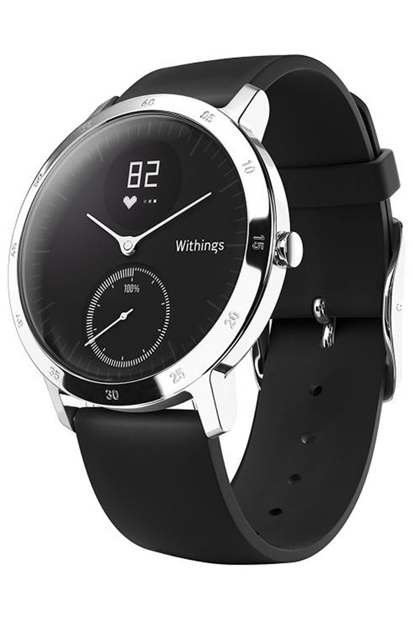 montre connect e withings steel hr 40mm noir steel 4293720 darty. Black Bedroom Furniture Sets. Home Design Ideas