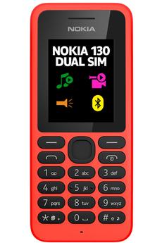 Téléphone portable 130 DUAL SIM ROUGE Nokia
