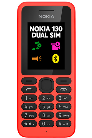 t l phone portable nokia 130 dual sim rouge 130 darty. Black Bedroom Furniture Sets. Home Design Ideas