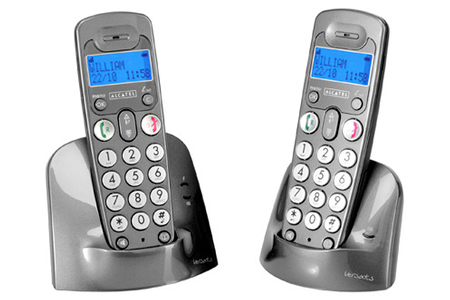 t l phone sans fil alcatel versatis xl duo versatisxl duo darty. Black Bedroom Furniture Sets. Home Design Ideas