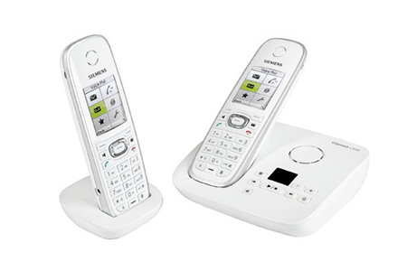 t l phone sans fil gigaset c 595 duo blanc darty. Black Bedroom Furniture Sets. Home Design Ideas
